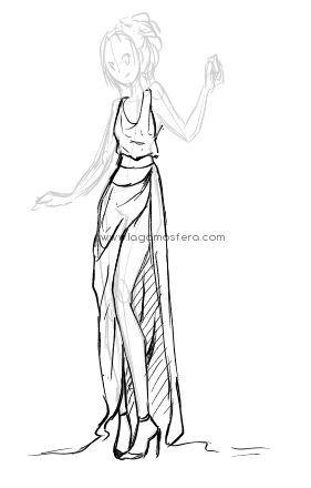 Quiero Continuar Mis Tutoriales De Dibujo Esta Vez Con Notas Para Dibujar Ropa Similar Al Anterior De Com Como Dibujar Ropa Ropa Dibujo Como Dibujar Vestidos