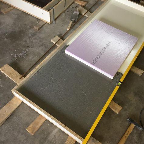 Arbeitsplatten aus Beton DIY - Bigmeatlove Möbel Pinterest
