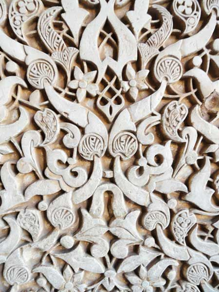 Intricate Carving Details Of Wall In Alhambra Islamic Patterns Abstract Art Images Historical Sculptures