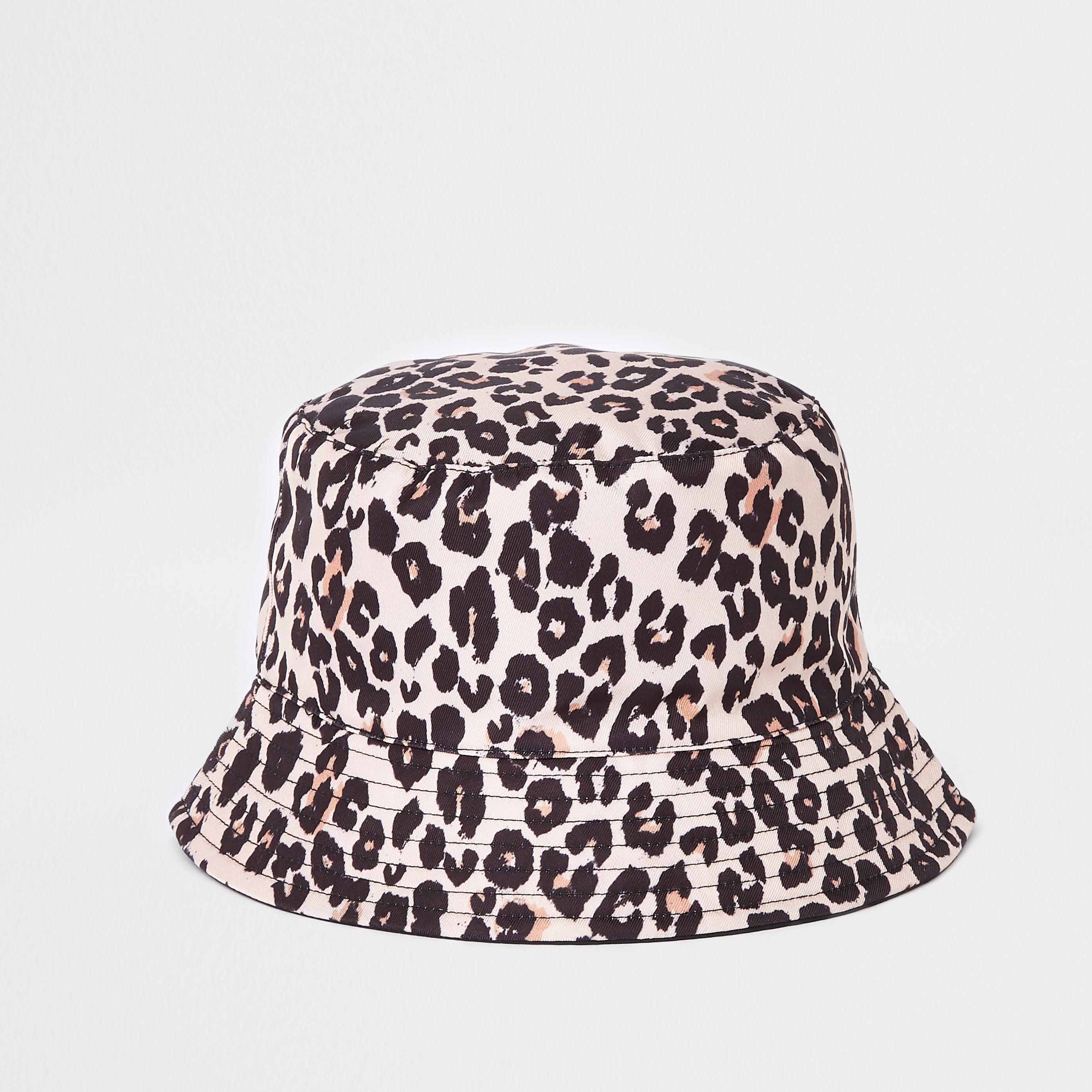 8044eae09bc Mini girls leopard reversible bucket hat in 2019