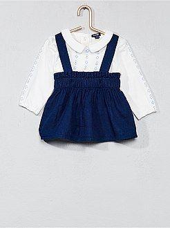 516e21cf8 Niña 0-36 meses - Conjunto de falda con tirantes + camiseta - Kiabi ...