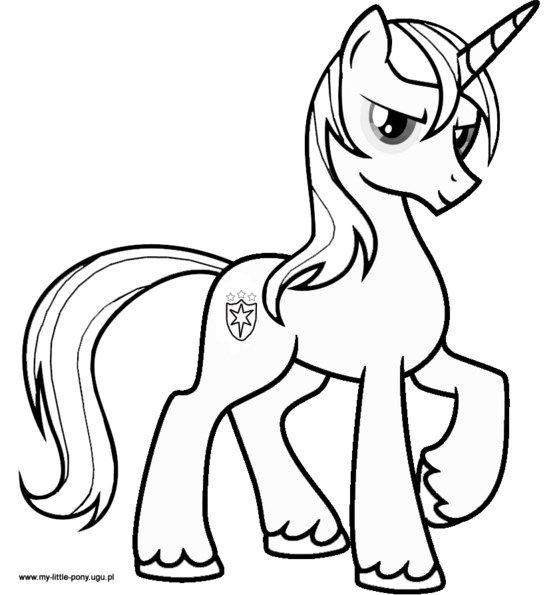 My Little Pony Coloring Pages Shining Armor Jpg 550 595 My Little Pony Coloring Horse Coloring Pages Unicorn Coloring Pages