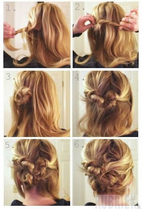 Bekend Halflang haar opsteken makkelijk | Kapsels - Peinados #HR03