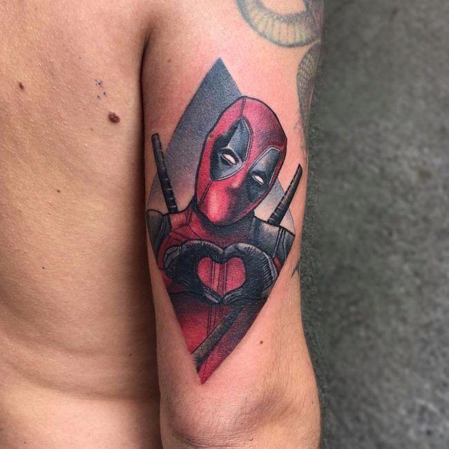 70 Dashing Deadpool Tattoo Designs Deadpool Mit Tinte Neu