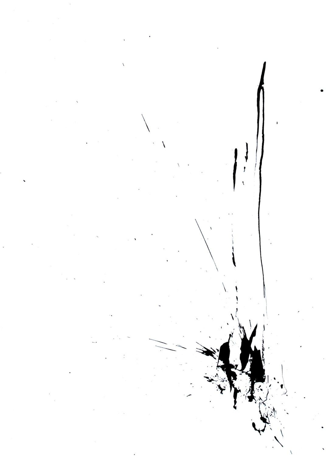Original abstract art ink drawing a4 the end ink dark ink