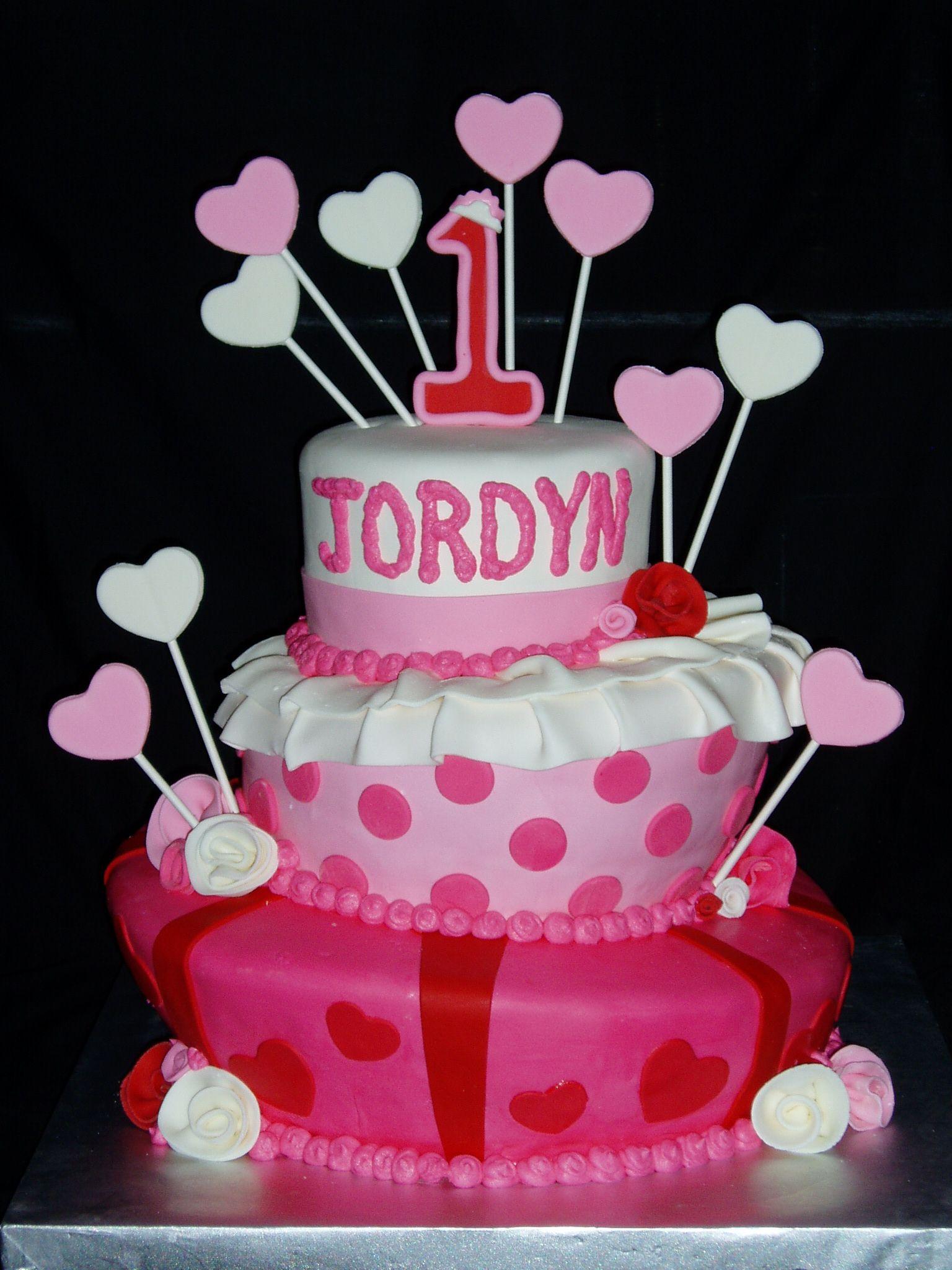 Valentine Baby Birthday Cake Natalies 1st Valentines Birthday 3
