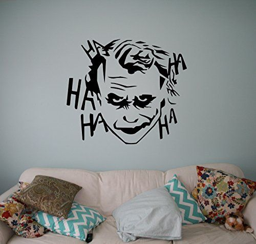 Joker wall vinyl decal batman dark knight sticker home for Dark knight mural