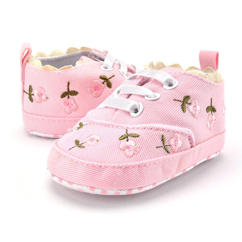 Baby Girl Shoes White Lace Floral Embroidered Soft Shoes Prewalker Toddler Kids