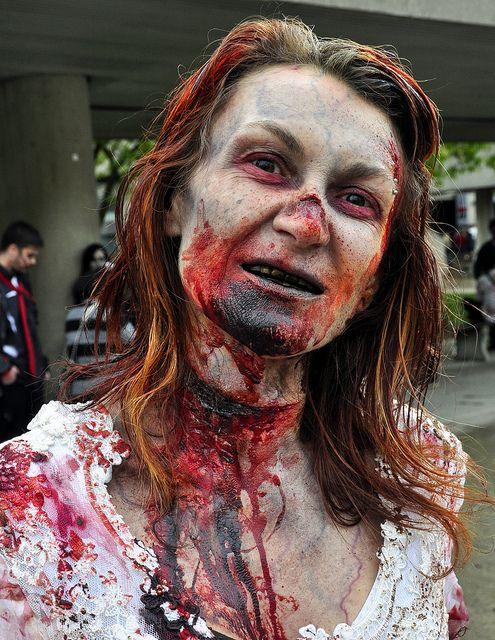 excellent zombie make up Zombie Pinterest Maquillaje de terror