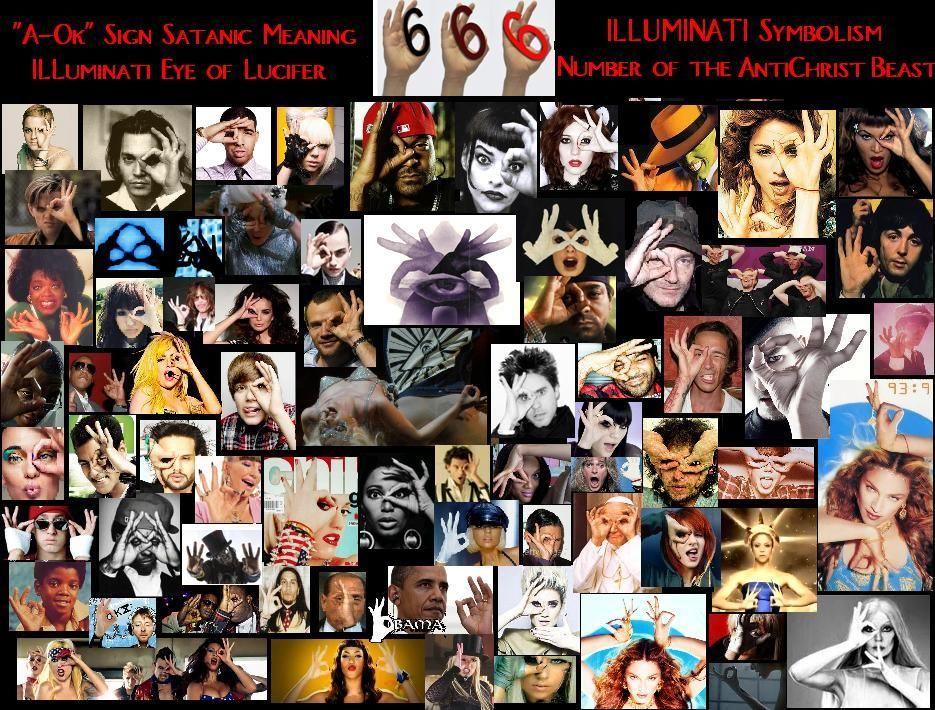 Illuminati Symbols Illuminati 666 A Ok Sign All Seeing Eye Symbol