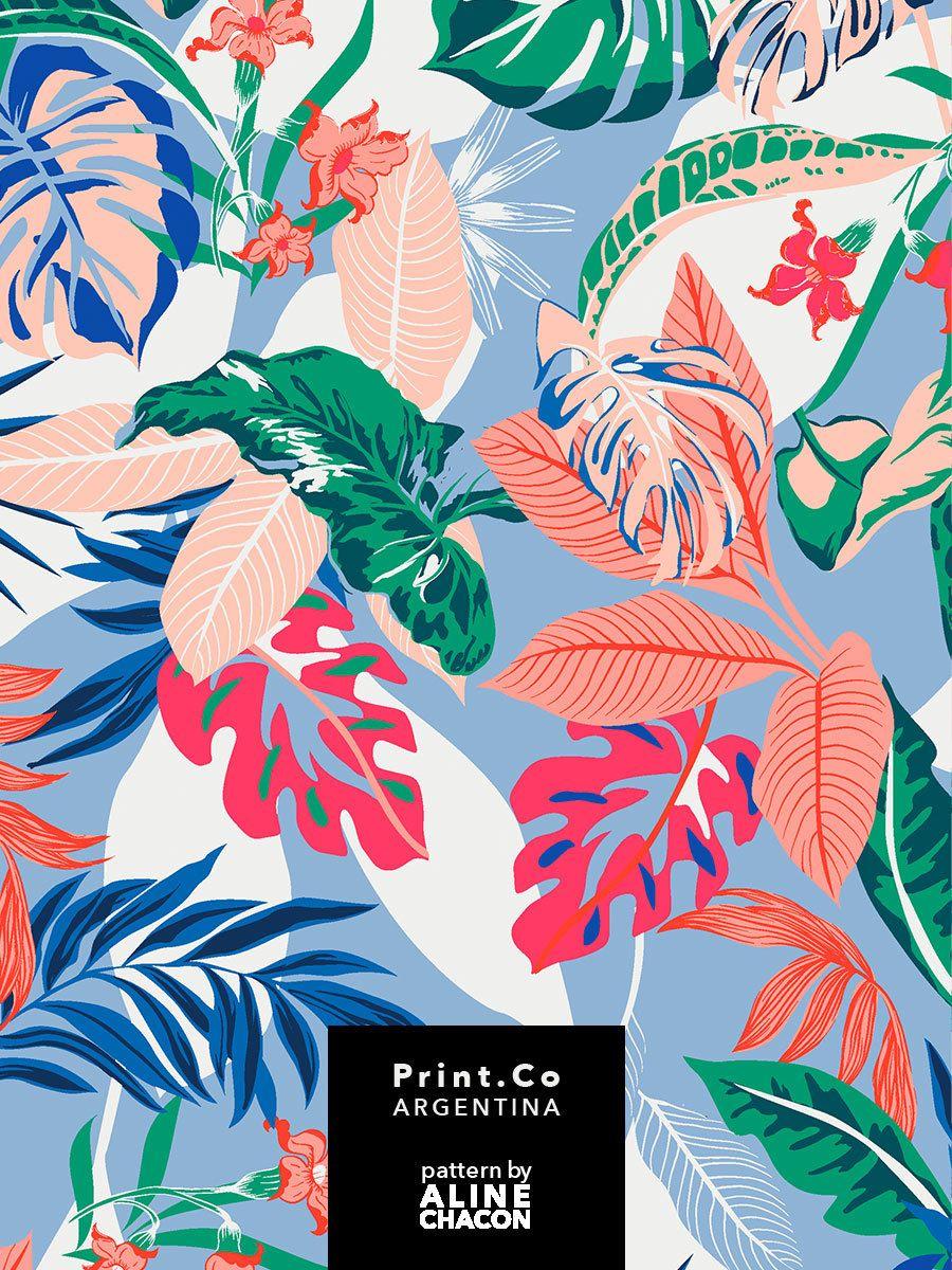 ALINE CHACON — Mais uma estampa Verão 2019 - PrintCo - 4... #tropicalpattern