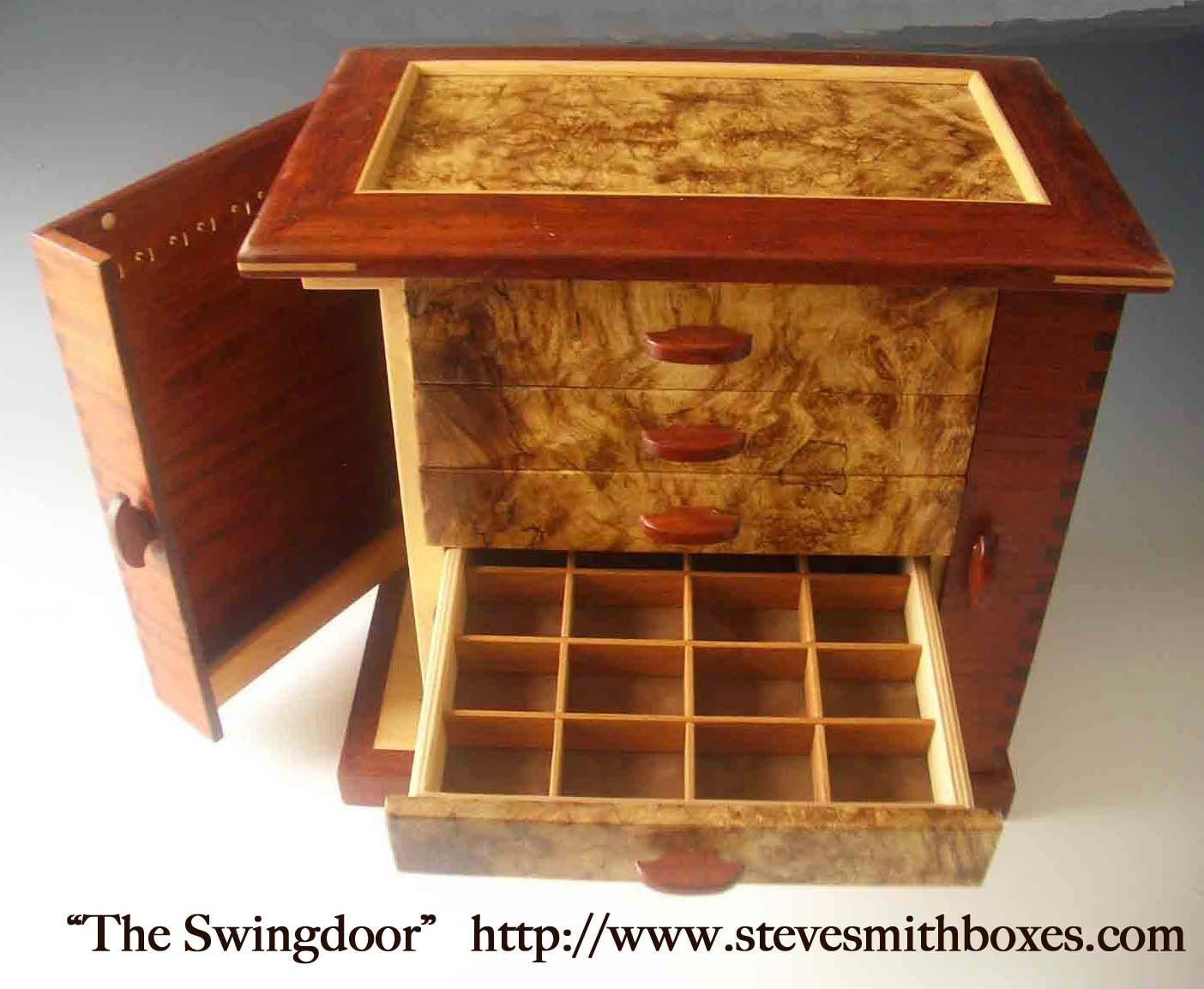 Handmade wooden jewelry boxes, keepsake boxes, and mens valet boxes; which make perfect unique gift ideas for women and men!