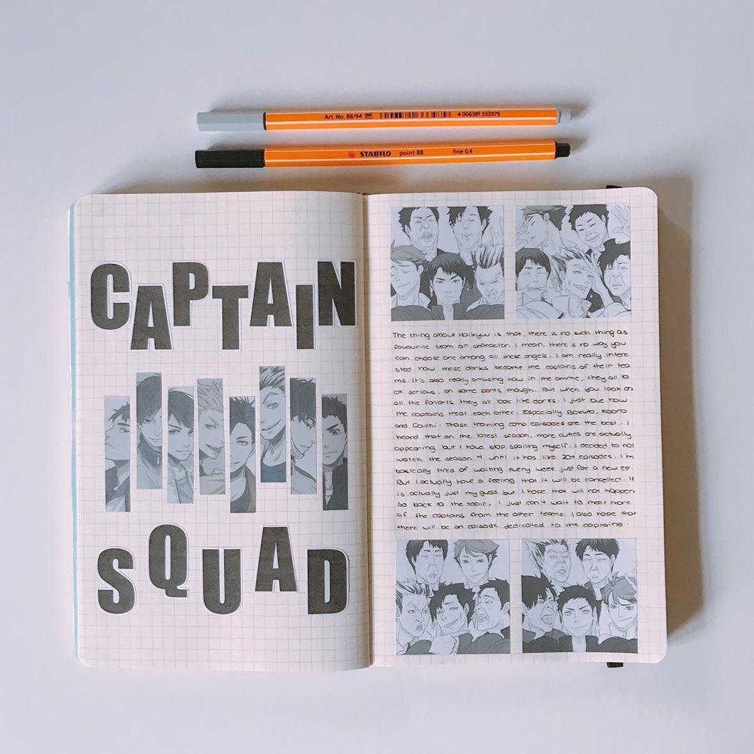 Bored Senpai Ha Condiviso Una Foto Su Instagram Did You Guys Miss My Haikyuu Spreads Bullet Journal Books Bullet Journal Ideas Pages Bullet Journal Banner