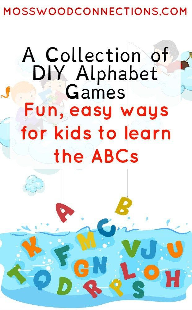 Diy Alphabet Game  Alphabet Games Learning And Gaming