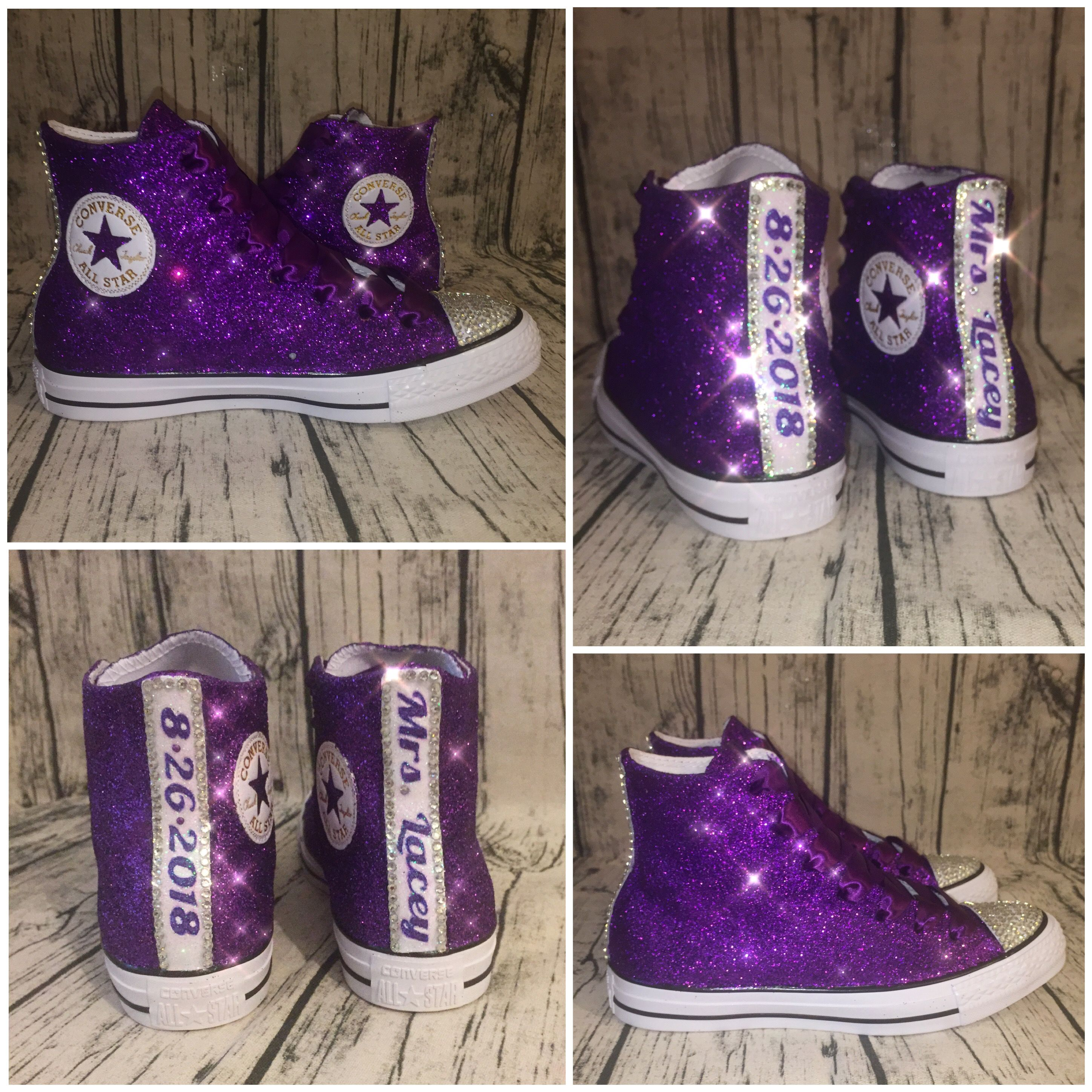 Sparkly converse, Personalized shoes