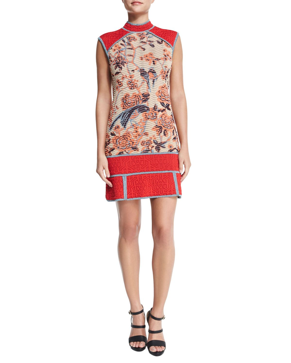 Floral Tapestry Jacquard Dress, Women's, Size: 36, Red - M Missoni