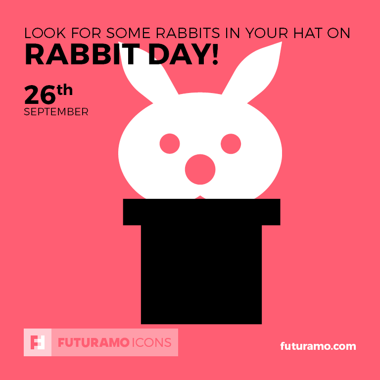 Look for some rabbits in your hat on Rabbit Day! All icons used in the series are available in our App. Imagine what YOU could create with them! Check out our FUTURAMO ICONS – a perfect tool for designers & developers on futuramo.com #futuramo #futuramoapps #futuramoicons #futuramocalendar #icondesign #icons #iconsystem #freeicons #pixel #pixels #pixelperfect #flatdesign #ux #ui #uidesign #design #developer #developers #webdesign #app #appdesign