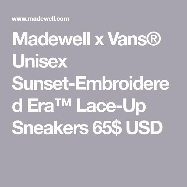 x Vans® Unisex Sunset-Embroidered Era