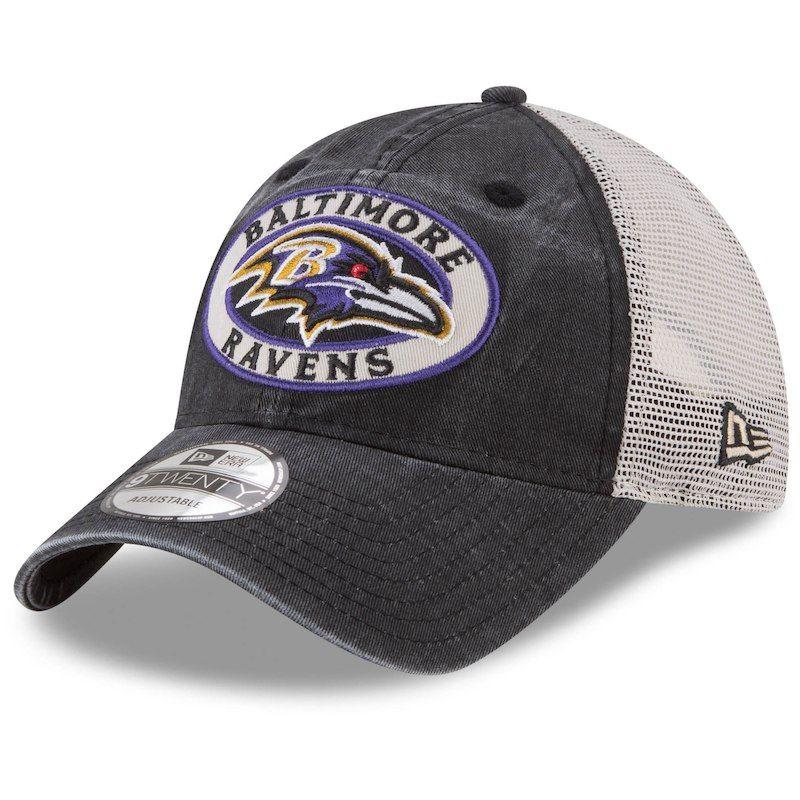 Baltimore Ravens New Era Patched Pride Trucker 9TWENTY Adjustable Hat –  Black Natural 854ca4d84