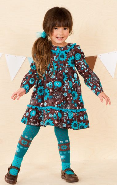 Bunnies Picnic - Le Top Pretty As A Flower Corduroy Dress and Tights back to school clothing girls designer boutique FREE SHIPPING - Girls Boutique Clothes