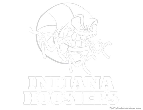 Indiana Hoosiers Basketball Coloring Sheet - Printable | College ...