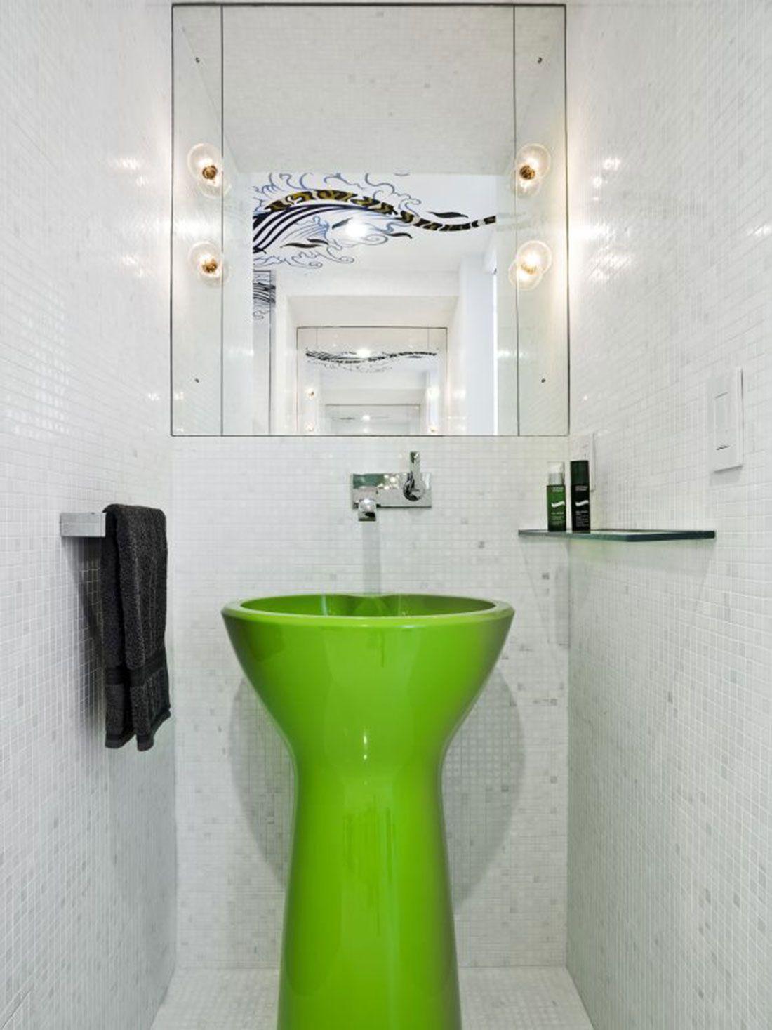 acid green | Bathrooms | Pinterest | Bathroom accessories, City ...