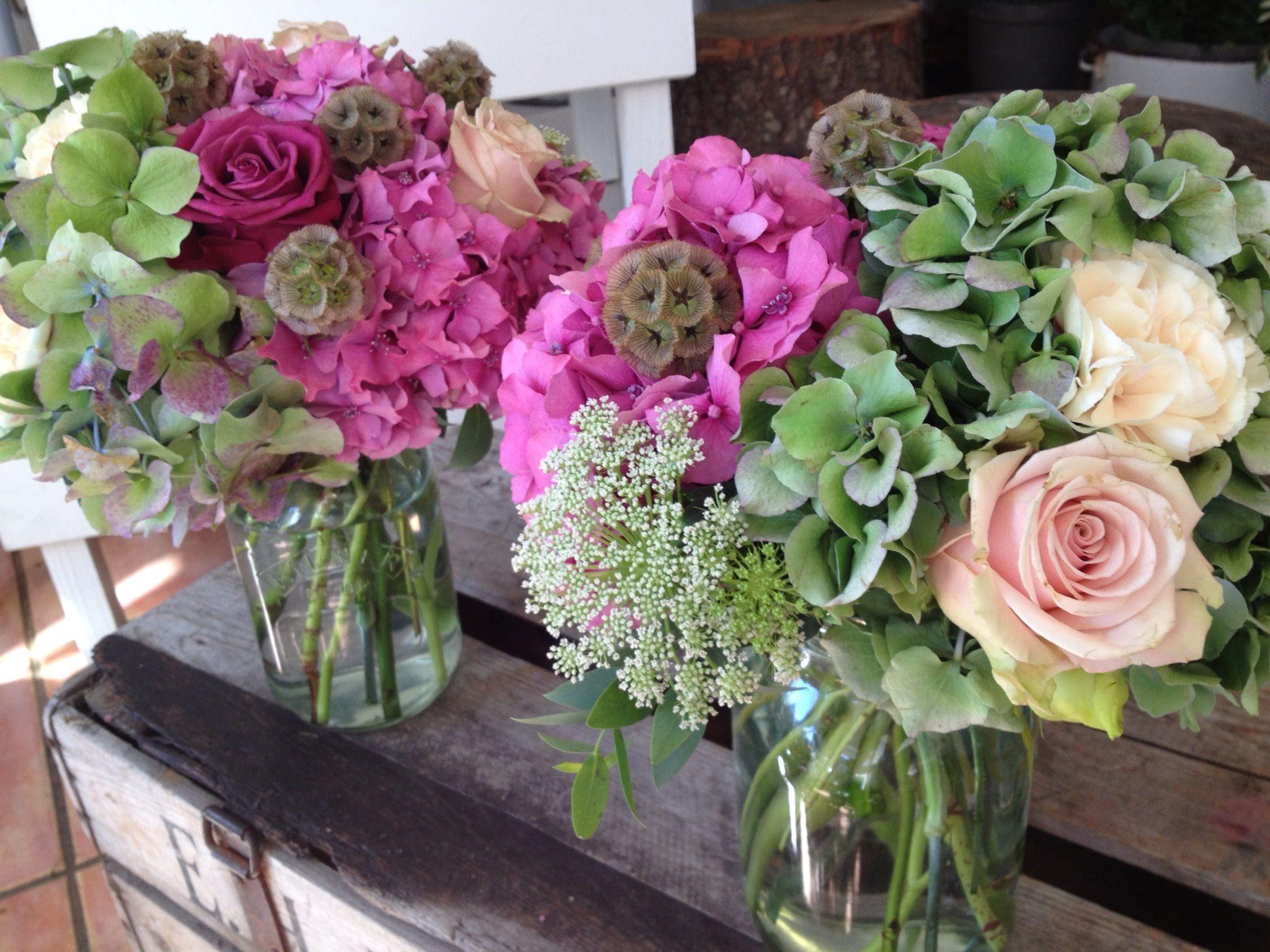 Kilner Jars With Country Flowers Wedding Ideas Pinterest