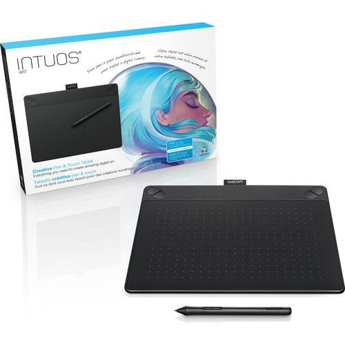 Wacom Intuos Art CTH 690 Pen & Touch Digital Graphic Drawing Tablet 2048  Pressure Levels Black / Blue Color Medium Size-in Digital Tablets from  Computer ...