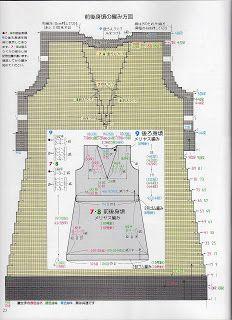 Gráficos - Crochê e Outros Fricotes: Gráfico Vestido de Tricô