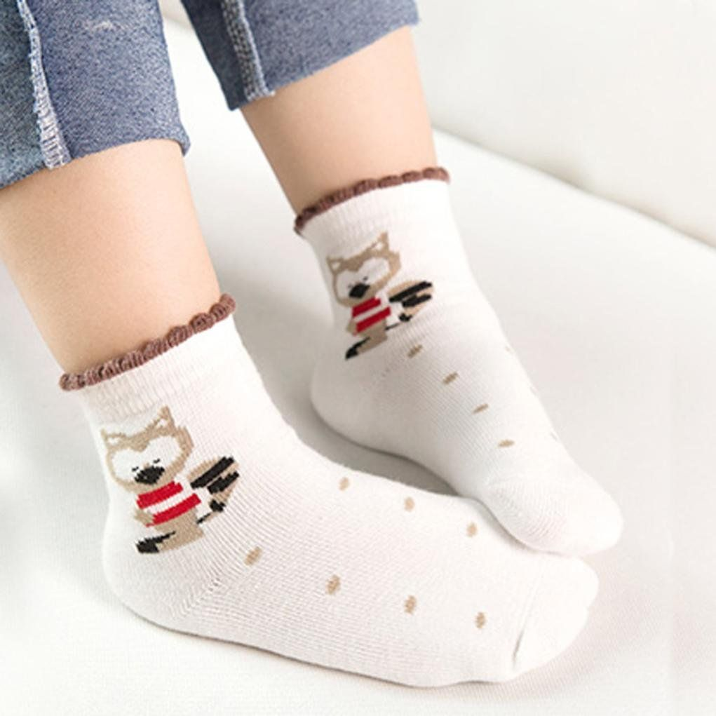 5 Pairs Cute Baby Kids Breathable Cotton Socks Children Infant Toddler Soft Sock