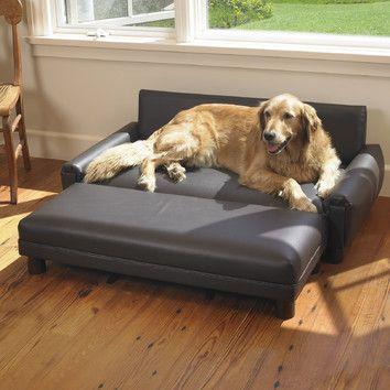 Mission Hills Faux Leather Dog Sofa