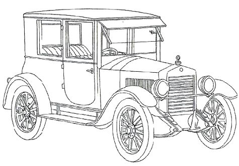 Dodge Classic Car Coloring Page