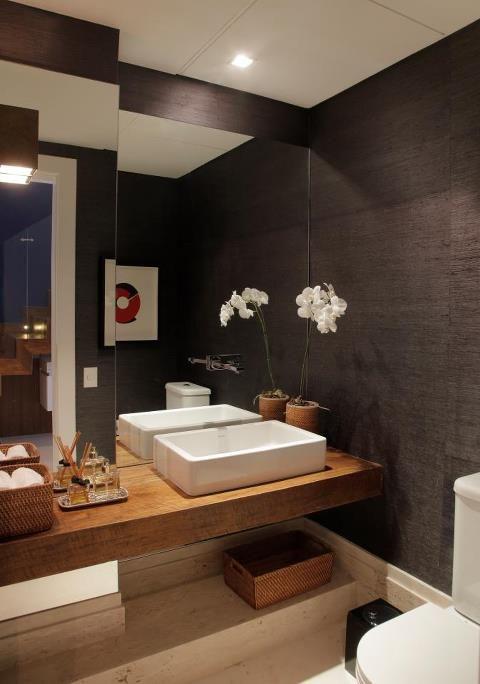 click interiores id ias para o seu lavabo design architecture pinterest badezimmer. Black Bedroom Furniture Sets. Home Design Ideas
