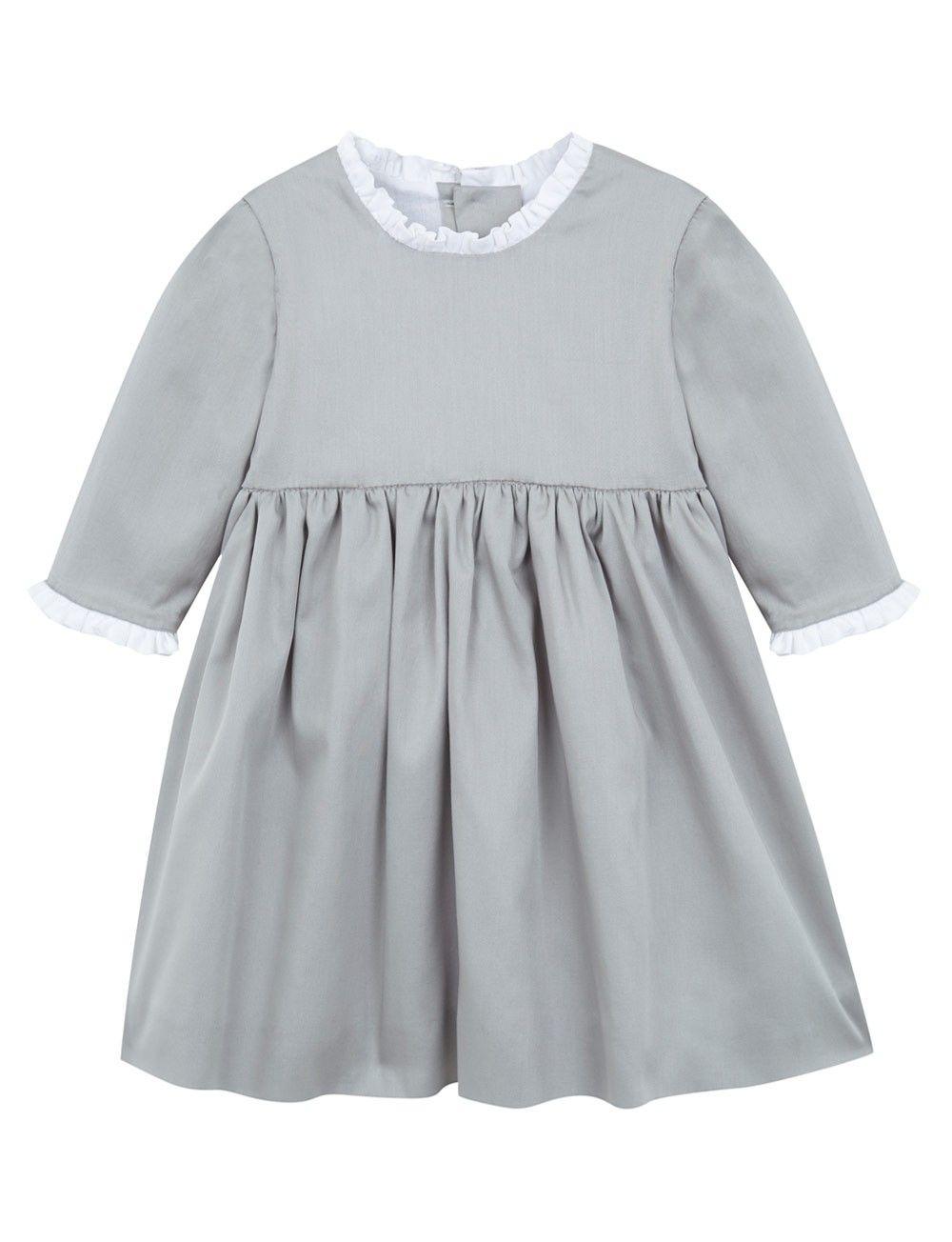 vista frontal vestido gris para niña de arras de Meme y Nana   Niños ...