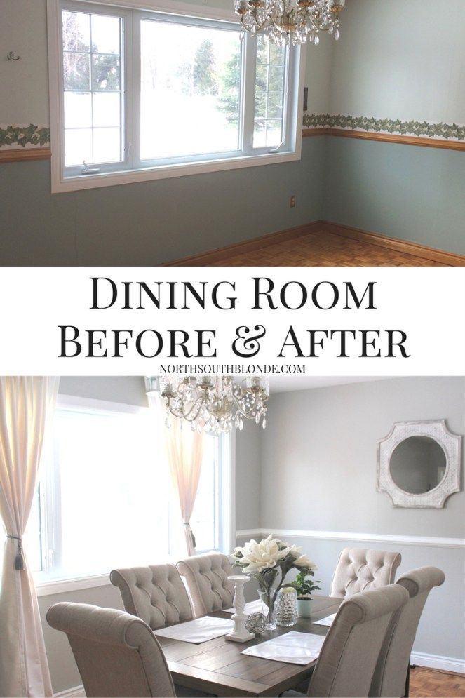 Dining Room Before and After (Ashley Furniture Tripton Dining Set ...