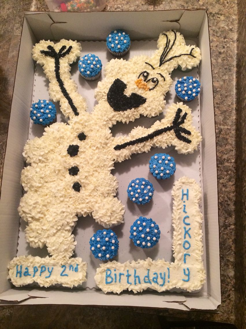 Olaf Pull Apart Cupcakes Cakes And Things Pinterest