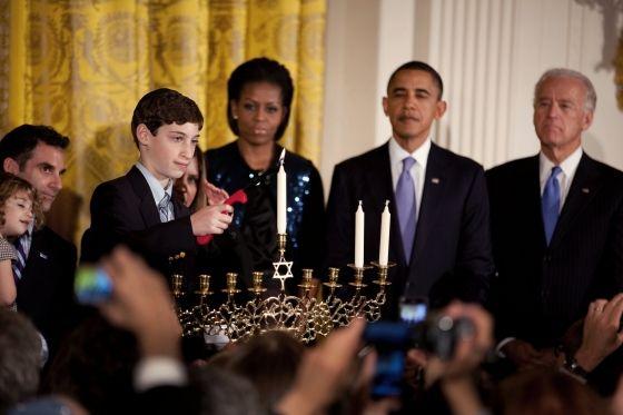 Menorah Lighting A Hanukkah Celebration At The White House. Washington, DC