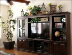 Ideas For Decorating The Top Of An Entertainment Center Google Search