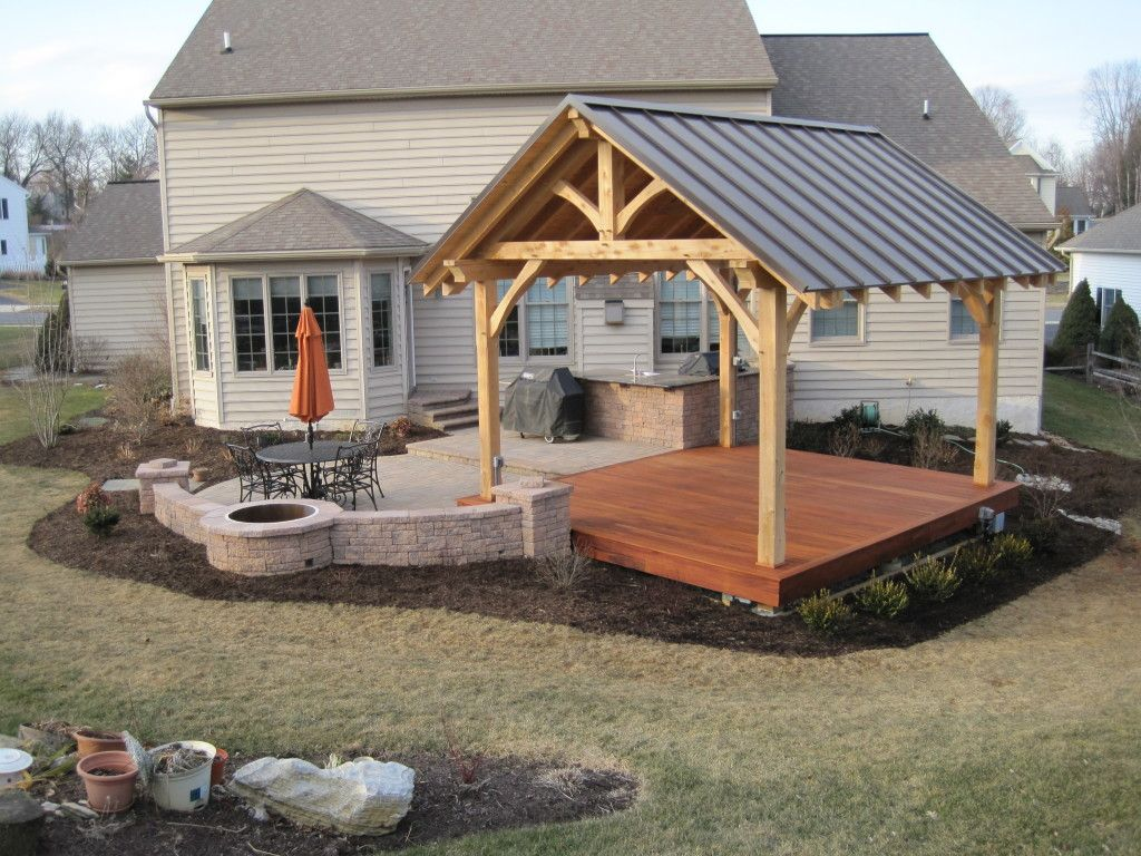 Like The Wood Deck And Pavilion But Doesnu0027t Look Sized Right For The House.