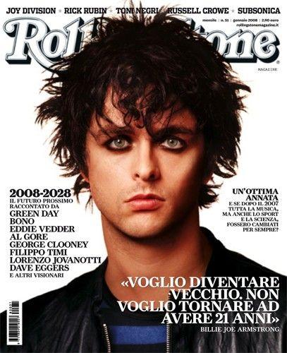 I primi 100 numeri di Rolling Stone. N°51 - gennaio 2008. Billie Joe @BJAofficial in copertina. #cover