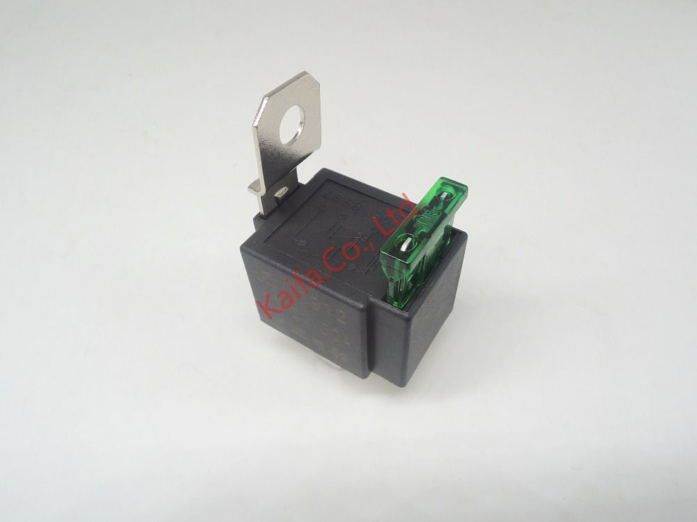 1piece4p 30A Auto Relay With Fuse Coil Voltage 12VDC Relay - Automotive Relay Normally Open