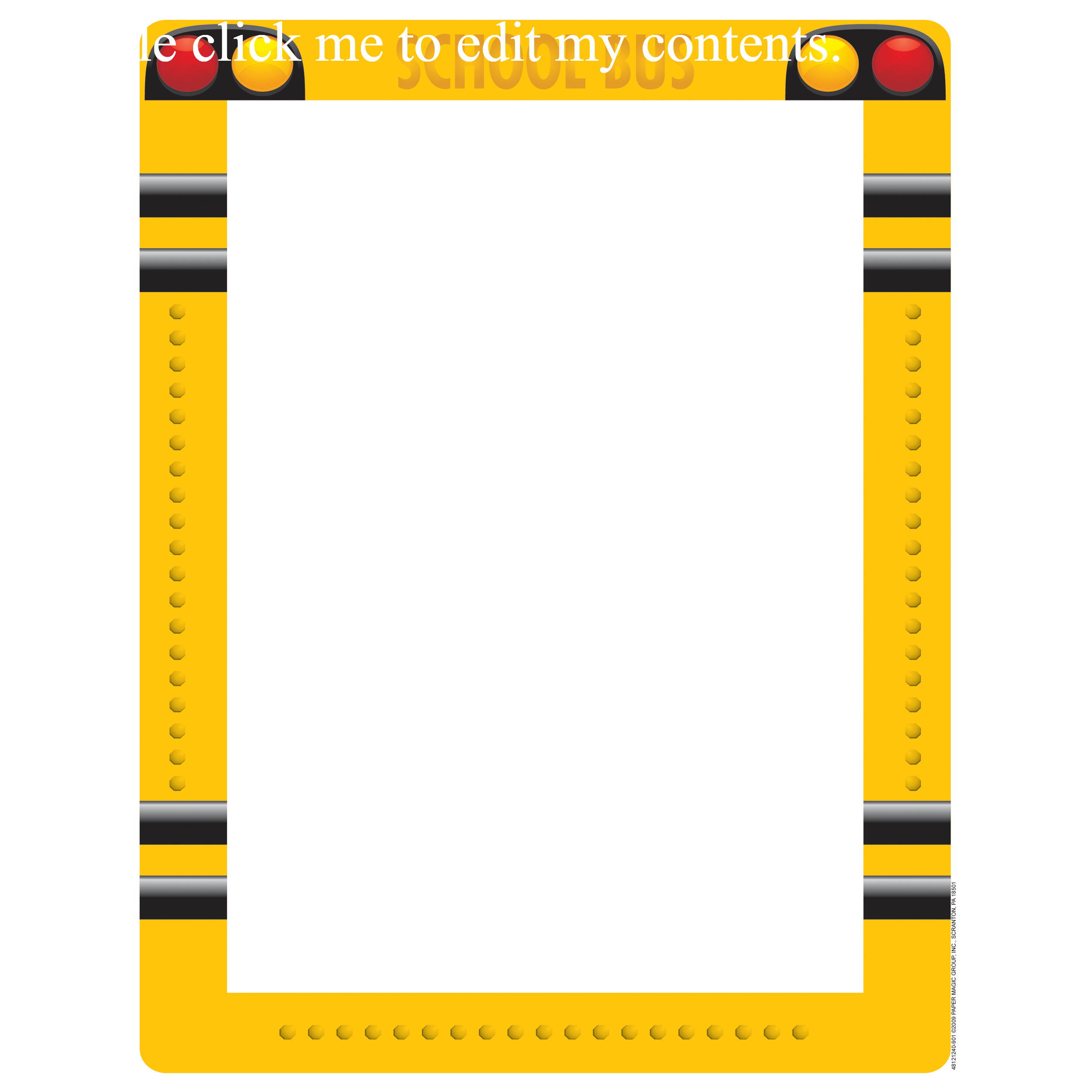 Pizza Border Frame In School Bus Clipart Border Collection Clipartxtras School Bus Clipart School Bus School Bus Pictures