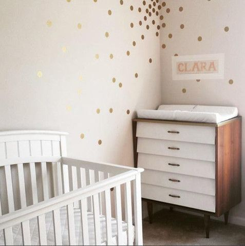 Polka Dot Wall Decals Confetti - Gold dot wall decals nursery