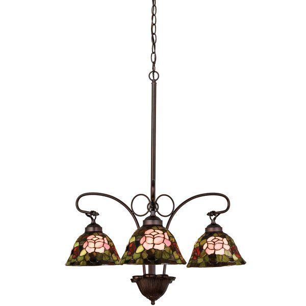 Youll love the tiffany rosebush 3 light shaded chandelier at wayfair great