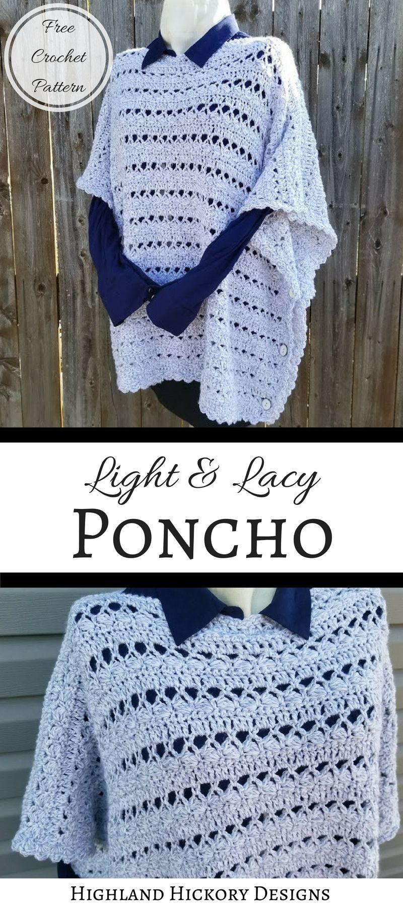 Light & Lacy Poncho | Pinterest | Crochet poncho, Crochet and Ponchos
