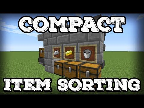 Minecraft Tutorial Compact Automatic Item Sorter Expandable