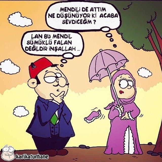 Mendili De Attim Ne Dusunuyor Ki Acaba Sevdicegim Lan Bu Mendil Sumuklu Falan Degildir Insallah Karikatur Mizah Matrak Komik Komik Seyler Karikatur
