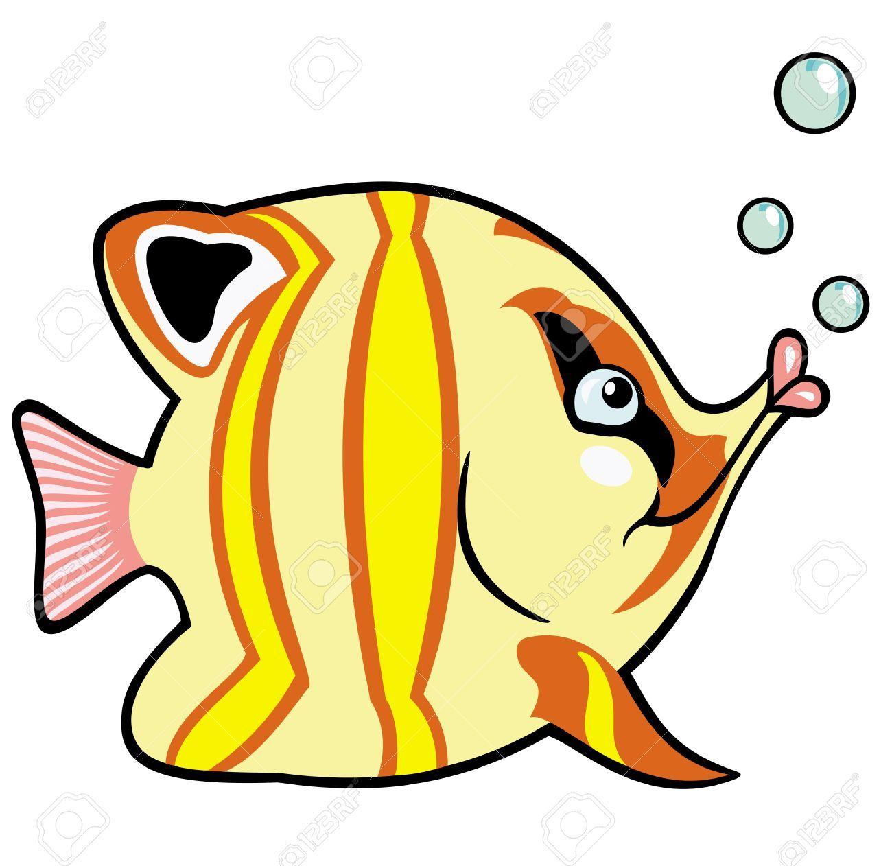 Peces de acuario imagen de dibujos animados para los for Peces marinos para acuarios pequenos