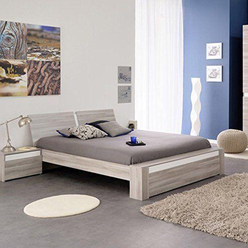 Parisot 3390l140 Mallow Silex Oak Platform Bed Full Brown Bed