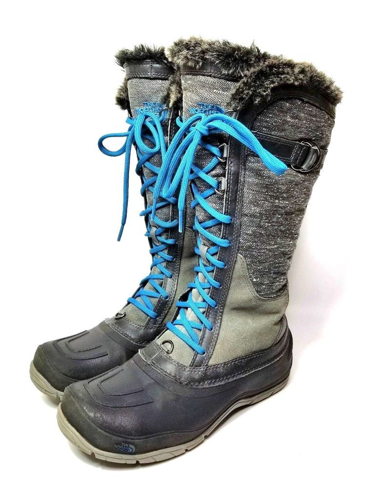 4bb6716a6 The North Face Womens Shellista II 2 Tall Winter Boots Gray Size 8 ...
